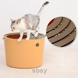 Iris Oyama cat toilet white Petit from above PUNT-430 from japan
