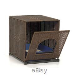 Kitty Litter Box Hidden Cover Enclosure Crate Wicker Like Extra Large Jumbo Cat