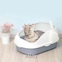 Large Sand Litter Box Clean Cat Toilet Training Bedpans Pet Open Topwith Scoop