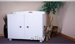 Litter Box Bench Hidden Kitty Enclosure Pet Furniture Home Indoor Easy Use Climb