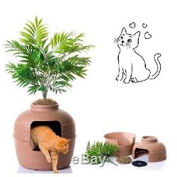 Litter Box Cabinet Cat Hidden Washroom And Night Stand Kitty Furniture Enclosure