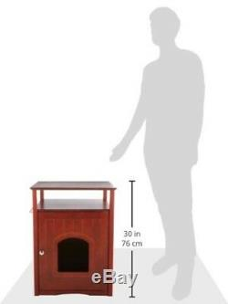 Litter Box Cabinet Table Cat Dog House Bed Night Stand Furniture Hidden Toy Wood