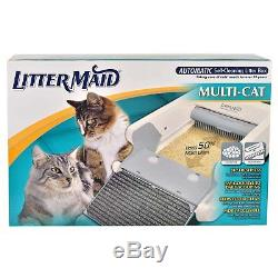 LitterMaid LM-86579 Multi-Cat Automatic Self-Cleaning Litter Box Durable Rake