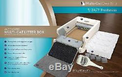LitterMaid Multi-Cat Automatic Self-Cleaning Litter Box Removable Rake Durable
