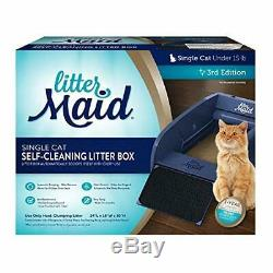 LitterMaid Single Cat Self-Cleaning Cat Litter Box, Regular Automatically Scoops