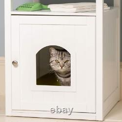 Lords & Labradors White Wooden Cat Washroom
