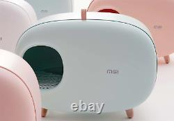 Luxury Design Pet Cat Litter Box Semi Closed Design with Scoop Models Xmas Gifts