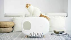 MAKESURE Cat Litter, Grooming Boxes, Easy to Clean, Eco-Friendly Material wit