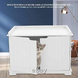 MDF Pet Cat Litter Box Cat House Indoor Cattery Enclosure Easy Cleaning