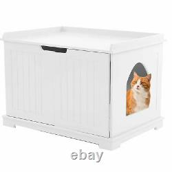 MDF Pet House Cat House Bed Box Cats House Home Indoor Cattery Enclosure