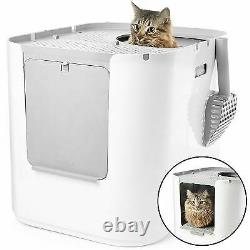 MODKO MODKAT XL Extra Large Cat Litter Box White Covered Easy Cleaning