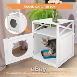Masthome Wooden Litter Box Cat Toilets, Pet Home Cat Cave, Washroom Storage x 48.5