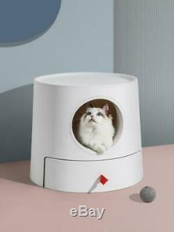 Mayitwill XL Castle 2in1 Front-Entry Semi-Closed Cat Litter Box withScoop AU STOCK