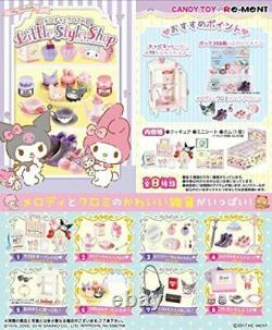 Melody and Kuromi Little Style Shop 8 pcs Candy Toys My melody Re-ment