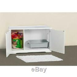 Merry Pet Cat Washroom White Bench Litter Box Cover MPS010