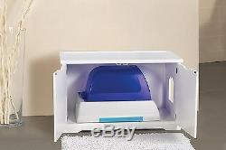 Merry Products Cat Washroom Bench White Attractive Cover Fit Any Litter Box New