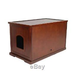 Merry Products Decorative Bench with Enclosed Cat Litter Washroom Box, Walnut