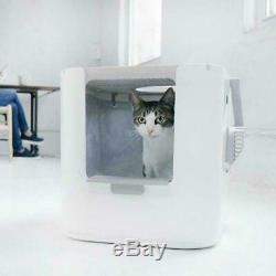 Modkat XL Cat Litter Box White Top And Front Entry Removable Lid Scoop Tray Cats