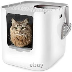 Modkat XL Litter Box, Top-Entry or Front-Entry Configurable, Looks Great, Litter