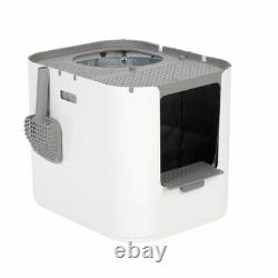 Modkat Xl Front Entry Opening Top Side Litter Attached Box 4 Hooks Stepping Fall