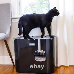 Modkat Xl Litter Box, Top Or Front-Entry Configurable, Includes Scoop And Liners