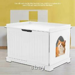 MultiFunction Durable MDF Pet Cat Litter Box Cat House Indoor Cattery Enclosure