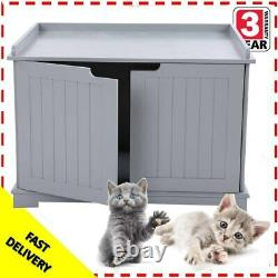 Multifunction Cat Litter Box House Stand Bathroom Hidden Cattery Enclosure