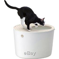 NEW IRIS Top Entry Cat Litter Box White PUNT-530 Japan Import Fast Shipping