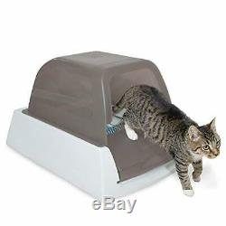 NEW Pe t S a fe ScoopFree Ultra Self-Cleaning Cat Litter Box y Taupe Covered