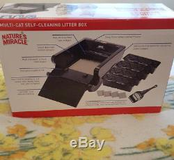 Nature's Miracle Multi-Cat Self-Cleaning Litter Box NMA980