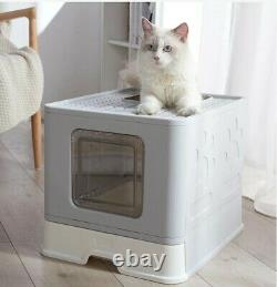 New High Quality Foldable Cat Toilet Training Litter Tray House Carriable