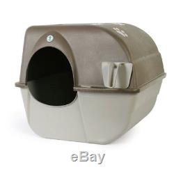 Omega Paw Self Cleaning Litter Box Pewter Extra Large Cat Pan Enclosed Hooded Co