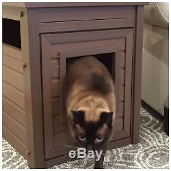 Pet Cat Litter Box Hidden Enclosure Cover House Cabinet Furniture Large Enclosed