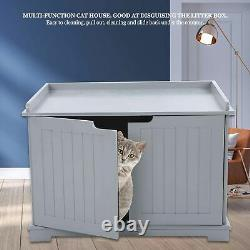 Pet Cat Litter MDF Box Cat Kitty Home House Indoor Cattery Enclosure Metal Hinge