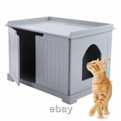 Pet Cat Litter MDF Box Cat Kitty House Indoor Cattery Enclosure UK STOCK