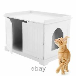 Pet Cat MDF Litter Box Cat House Indoor Cattery Enclosure 30kg Load Bearing New