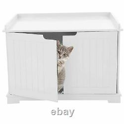 Pet Cat MDF Litter Box Cat House Indoor Cattery Enclosure Box 30kg Load Bearing