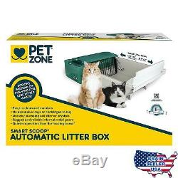Pet Zone Smart Scoop Automatic Litter Box with Bags and Filters Self Cleaning Ca
