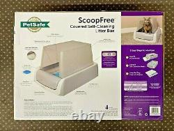 PetSafe ScoopFree Automatic Self Cleaning Hooded Cat Litter Box Top Entry Gray