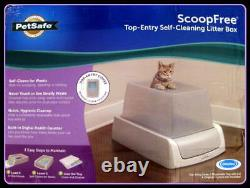 PetSafe ScoopFree Automatic Self Cleaning Hooded Cat Litter BoxTop Entry Gray