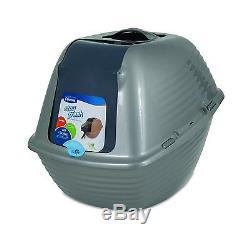 Petmate STAY FRESH HOODED CAT PAN Smooth Rounded Edges 53x51cm, Jumbo ASSORTED