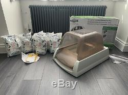Petsafe Scoopfree Ultra litter tray box with REUSABLE tray with crystals