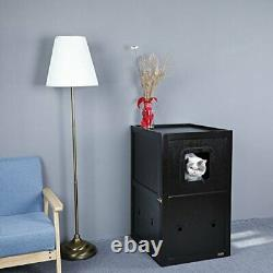 Petsfit Double-Decker Pet House Litter Box Enclosure Night Stand Painted with