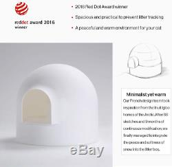 Pidan Cat Litter Box with Lid Large with Scooper Cat Litter Pan Snow House Igloo