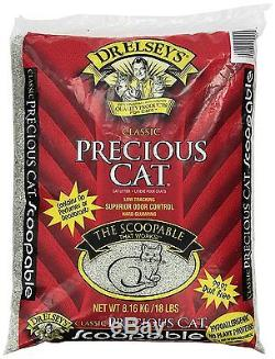 Precious Cat CLASSIC CAT LITTER Hard Clumping Hypo-allergenic Dust Free-18lb/8kg