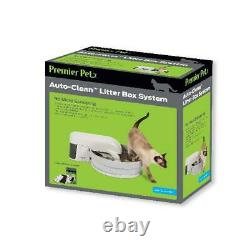 Premier Pet Auto-Clean Litter Box System Works With Clumping Cat Litter