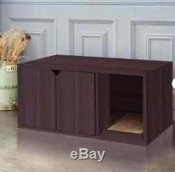 Premium Designer Cat Washroom Storage Wooden Cat Litter Box Enclosure Private