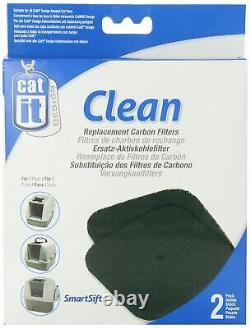 Replacement Carbon Filter Hooded Cat Pan For Litter Tray Removes Odour Pack Of 2