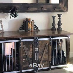 Rustic Dog Crate Sliding Barn Doors Dog House Unique Rustic Furniture Double