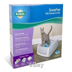 ScoopFree Self-Cleaning Litter Box, Second Generation, Gray, Leak Protection NEW